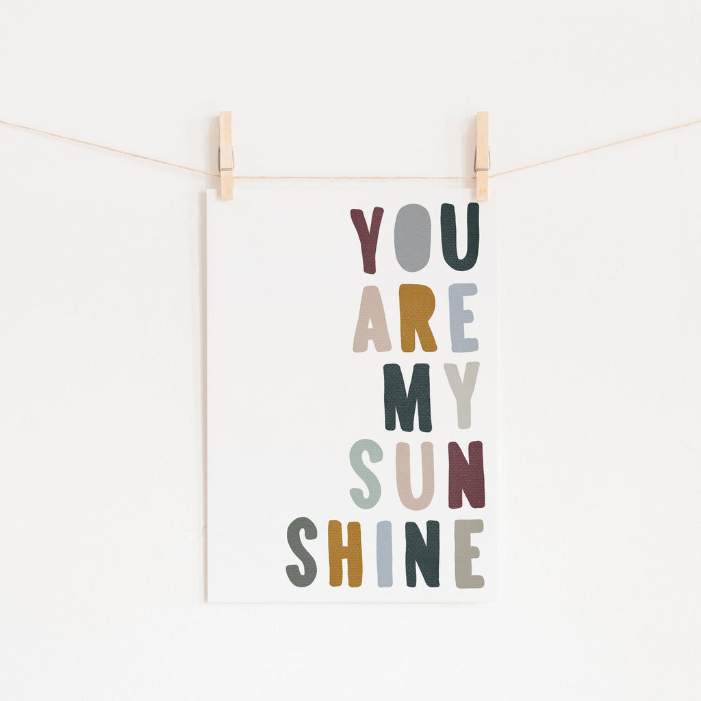 You Are My Sunshine - Woodland |  Unframed