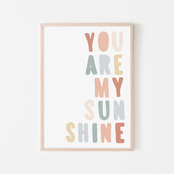 You Are My Sunshine - Subtle Colours |  Framed Print