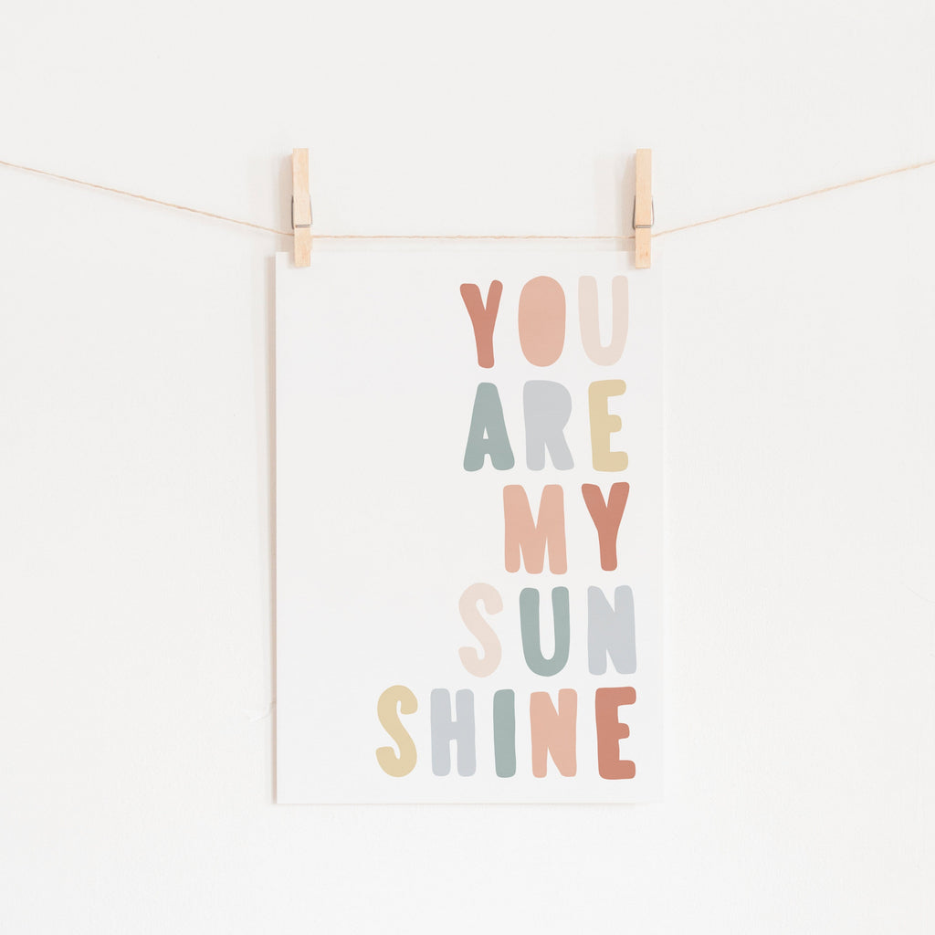 You Are My Sunshine - Subtle Colours |  Fine Art Print