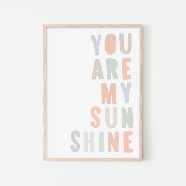 You Are My Sunshine - Pastel |  Framed Print