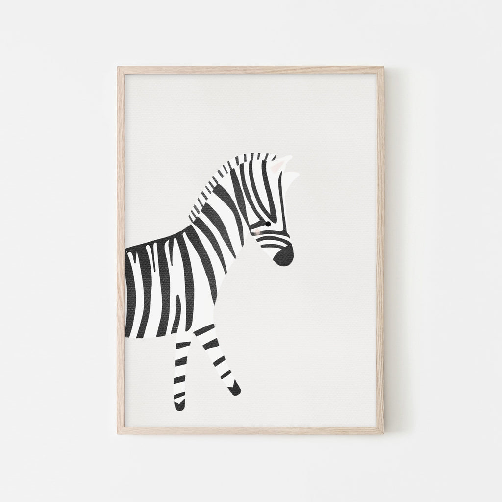 Zebra - Nursery Art |  Framed Print
