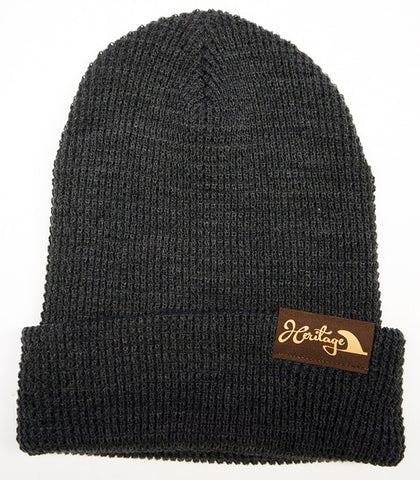 Foil Leather Patch Beanie