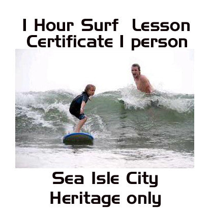 1 Hour 1 Person Private Surf Lesson