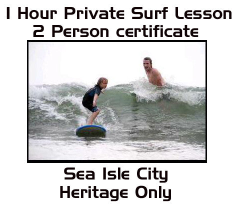 1 Hour 2 Person Private Surf Lesson