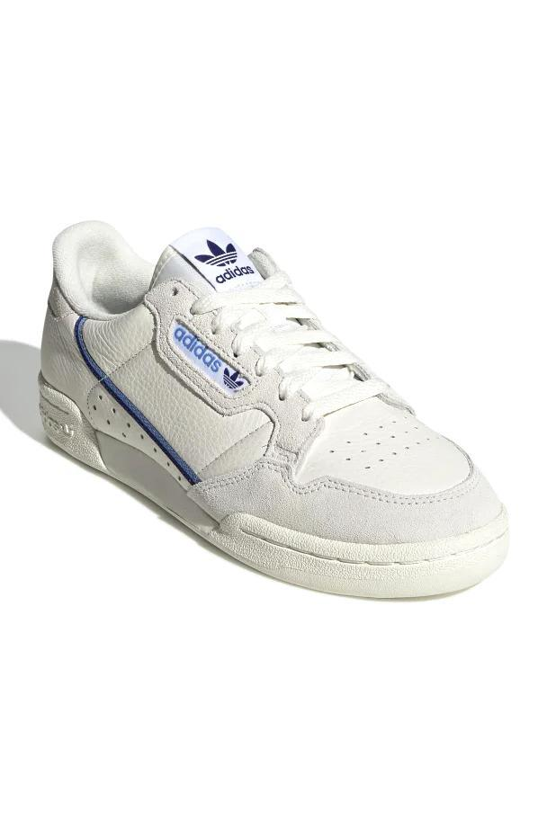 Sneakers Gray Adidas Continental 80 W // Off White/Blue // EE5557
