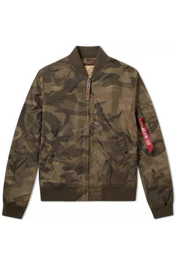 Dark Olive Green MA-1 TT // Olive Camo Vestes Alpha Industries