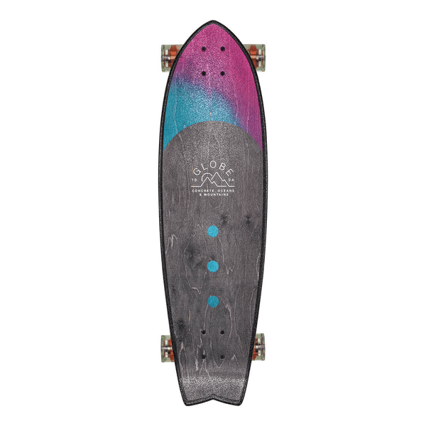 "Dim Gray Chromantic // Washed Aqua // 33"" x 9.5"" inch Cruiserboards Globe"