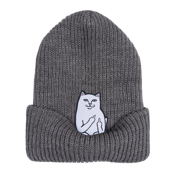 Bonnets - RipNDip - Lord Nermal Beanie // Heather Grey - Stoemp