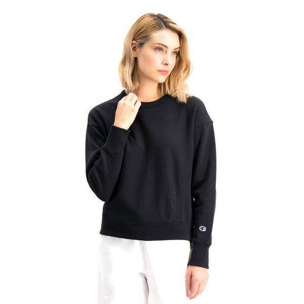 White Crewneck Sweatshirt // 112726 // Black Sweats sans capuche Champion Reverse Weave