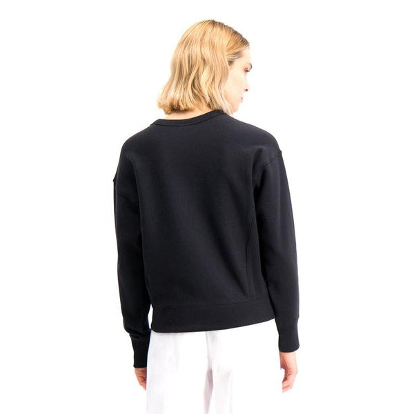 Black Crewneck Sweatshirt // 112726 // Black Sweats sans capuche Champion Reverse Weave