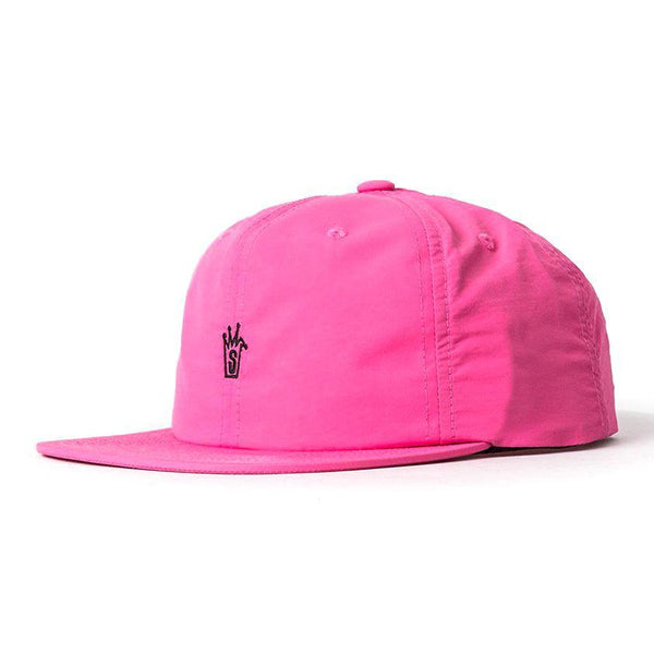 Oxford Nylon Strapback Cap // Hot Pink
