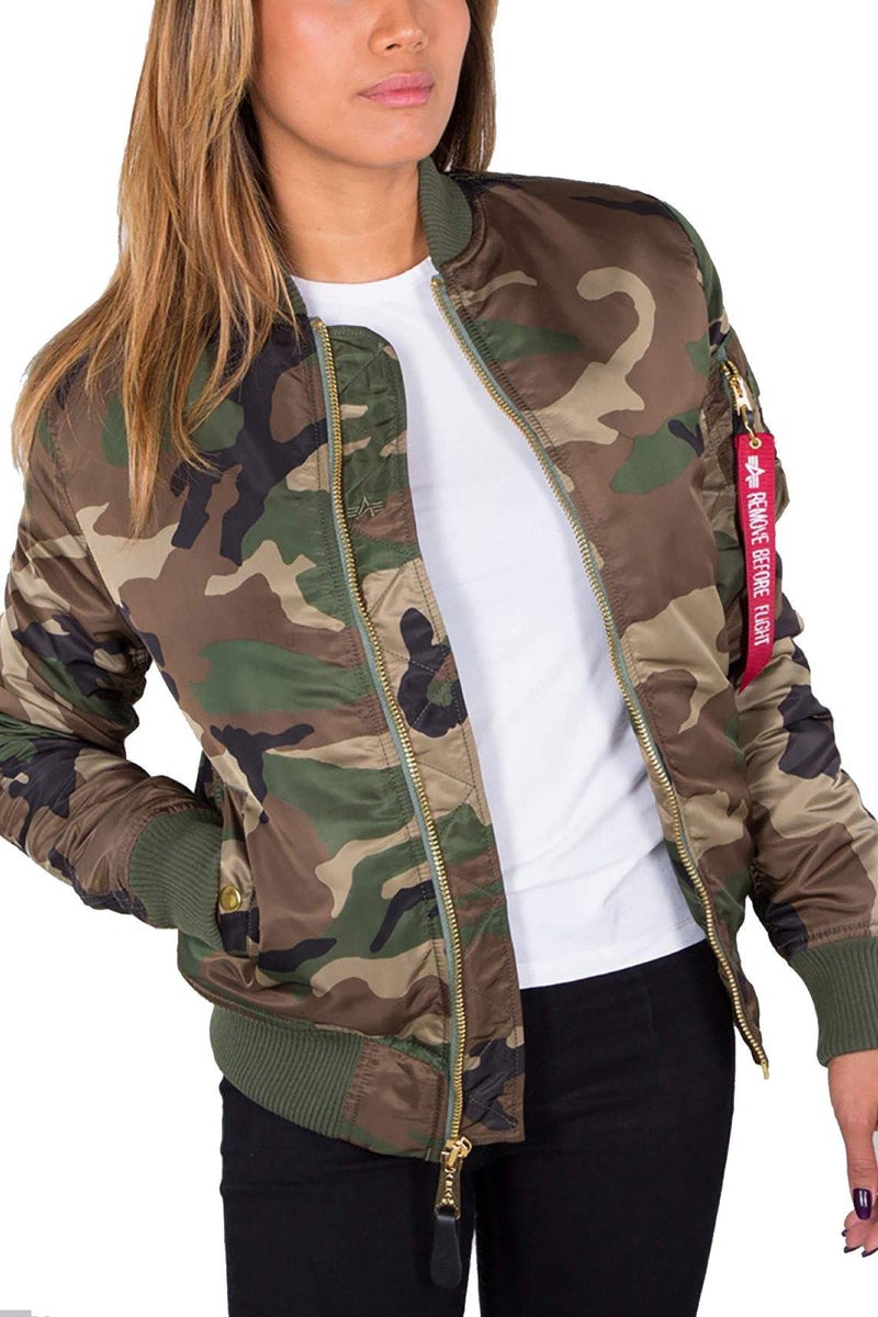 White Smoke MA-1 VF PM Wmn // Wild Camo 65 Vestes Alpha Industries