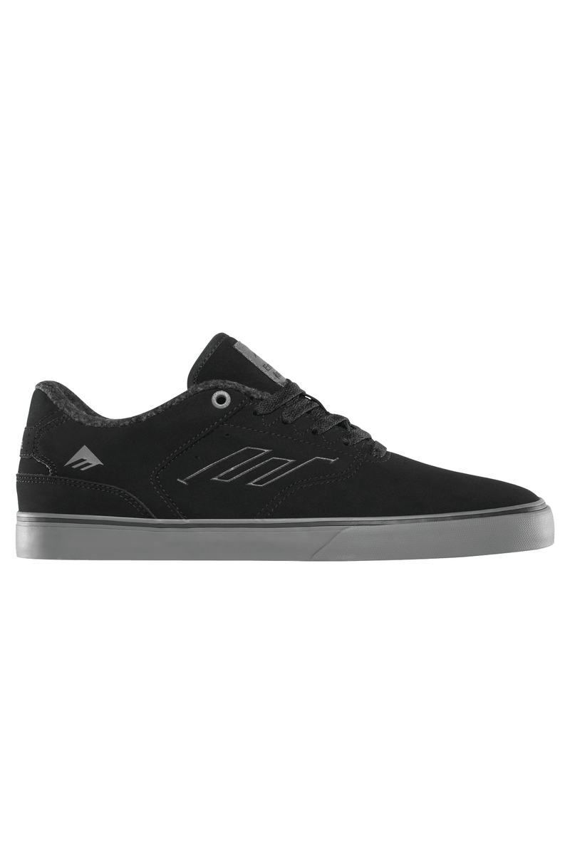 Black The Reynolds Low Vulc // Black Grey Sneakers Emerica