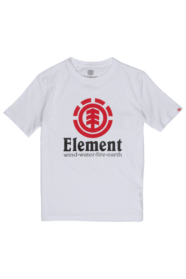 Light Gray Vertical SS Boy // Optic White T-shirts Element