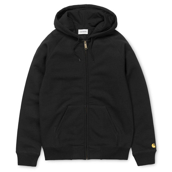 Hooded Chase Jacket // Black/Gold