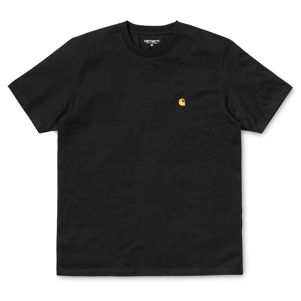 Black SS Chase T-Shirt // Black/Gold T-shirts Carhartt WIP