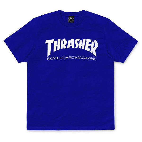 Dark Blue Thrasher Mag T-shirt // Royal T-shirts Thrasher