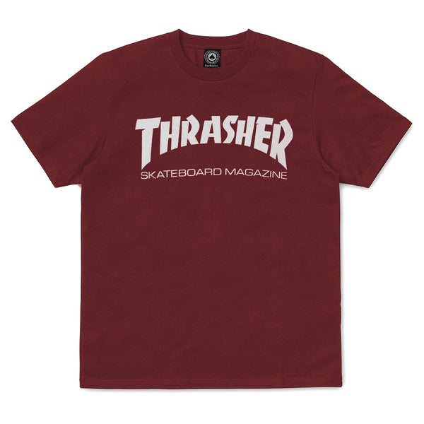 Saddle Brown SS Tee Skate Mag // Maroon T-shirts Thrasher