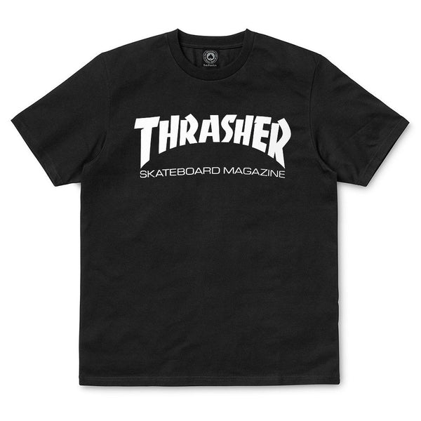 Black SS Tee Skatemag // Black T-shirts Thrasher