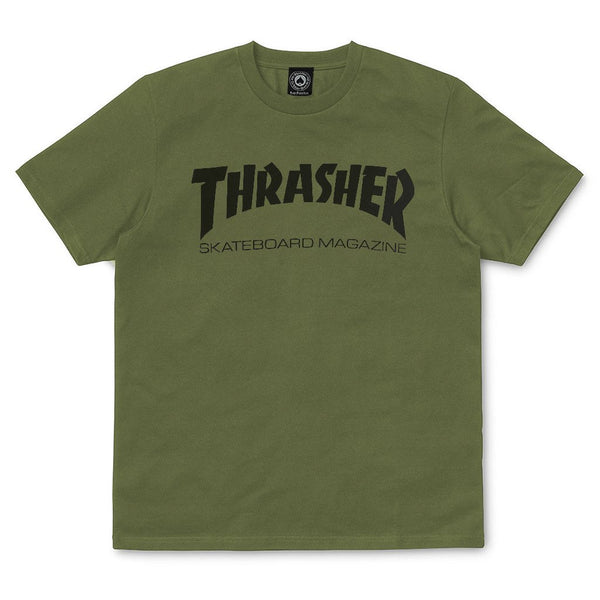 Dark Olive Green SS Tee Skate Mag // Army T-shirts Thrasher