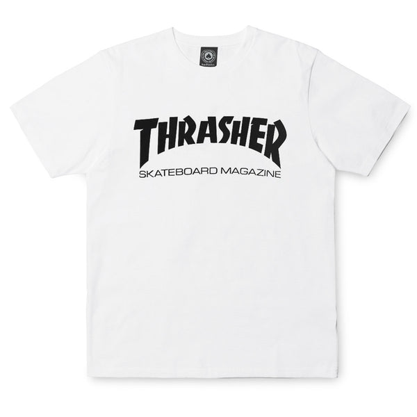 White Smoke SS Tee Skate Mag // White T-shirts Thrasher