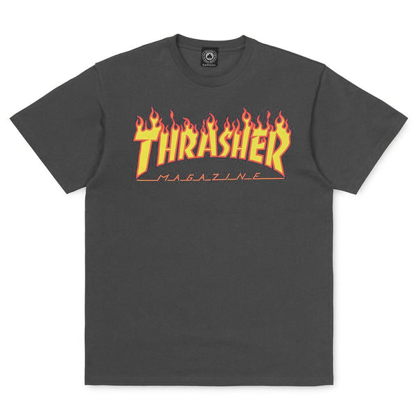 Dark Slate Gray SS Tee Flame // Charcoal T-shirts Thrasher