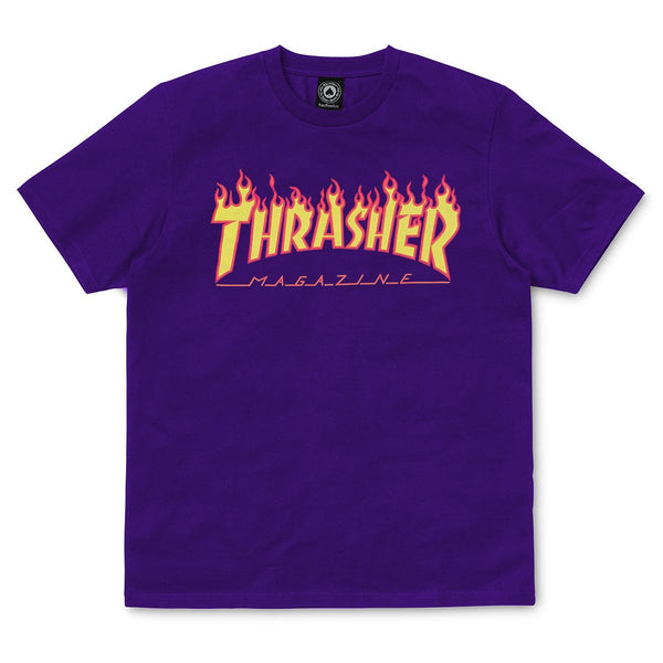 Midnight Blue SS Tee Flame // Purple T-shirts Thrasher