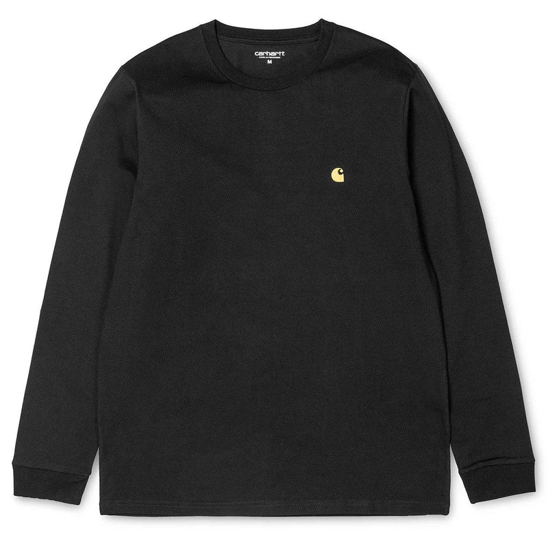 Black LS Chase T-Shirt // Black/Gold T-shirts Carhartt WIP