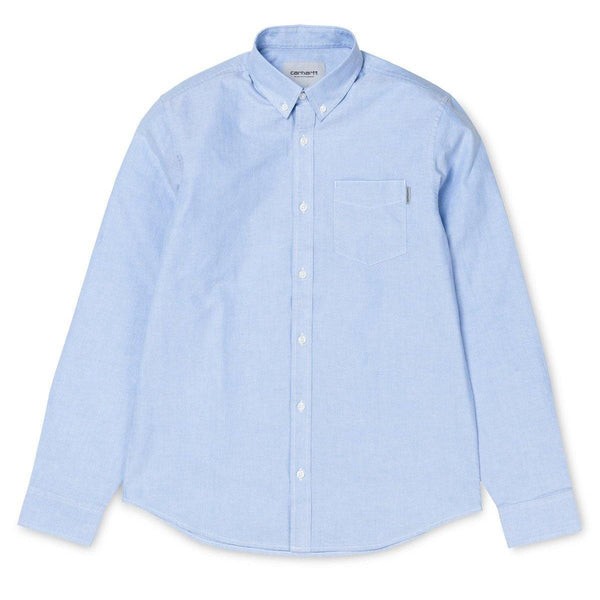 Light Blue L/S Button Down Pocket Shirt // Bleach Chemises Carhartt WIP