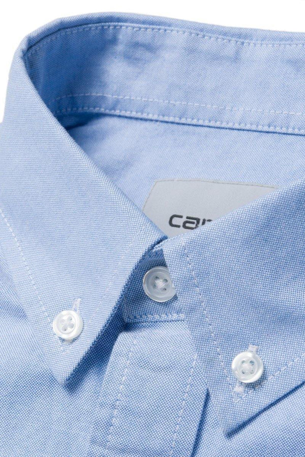 Light Steel Blue L/S Button Down Pocket Shirt // Bleach Chemises Carhartt WIP