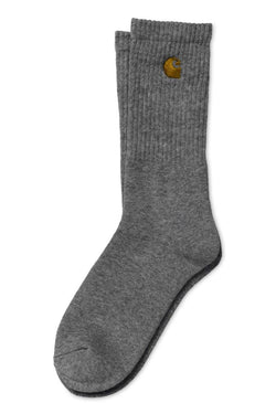 Dim Gray Chase Socks // Grey Heather/Gold Chaussettes Carhartt WIP