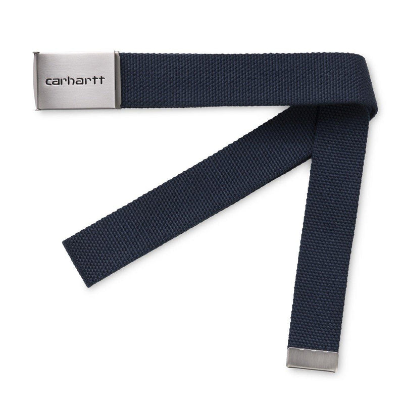 Clip Belt Chrome // Blue