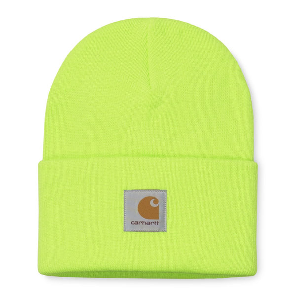 Light Goldenrod Acrylic Watch Hat // Lime Bonnets Carhartt WIP
