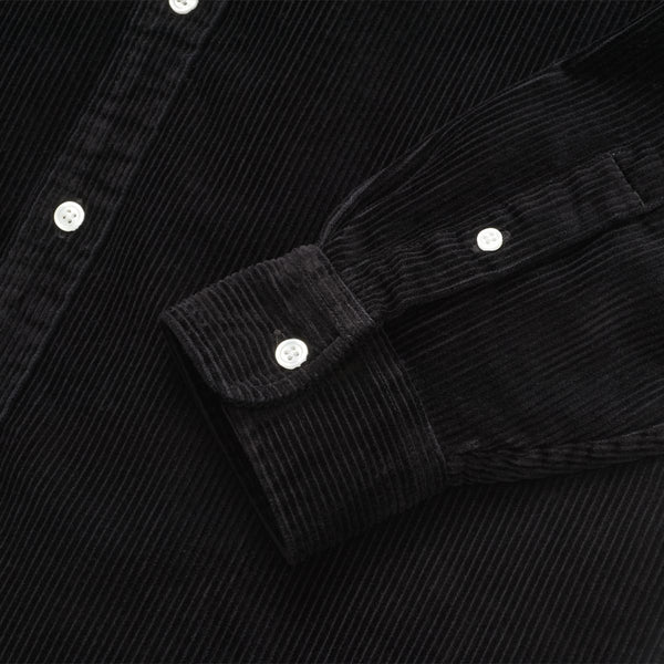White Smoke L/S Madison Cord Shirt // Black/Wax Chemises Carhartt WIP