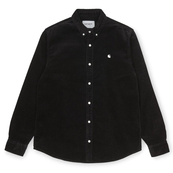 Black L/S Madison Cord Shirt // Black/Wax Chemises Carhartt WIP