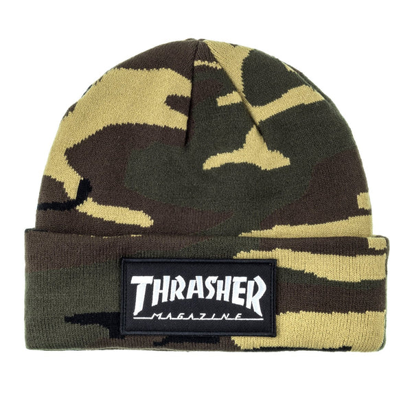 Dark Slate Gray Beanie Logo Patch // Camo Bonnets Thrasher