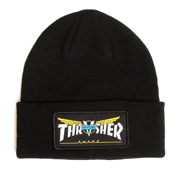 Black Beanie Venture Collab Patch // Black Bonnets Thrasher