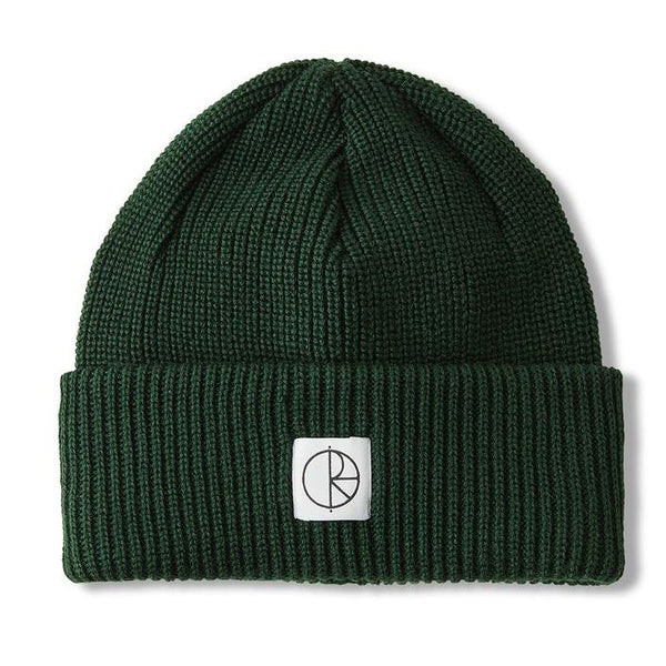Dark Slate Gray Double Fold Merino Beanie // Hunter Green Bonnets Polar