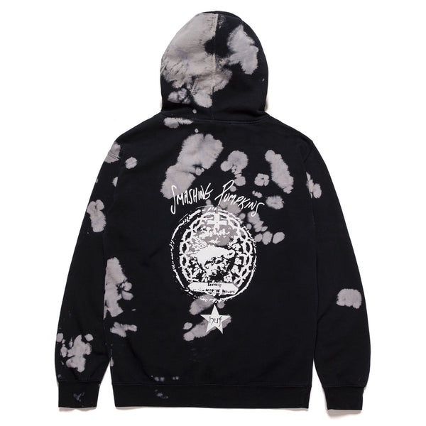 Black Huf x Smashing Pumpkins Cherub Rock P/O Hoodie // Black/White Sweats à capuche Huf