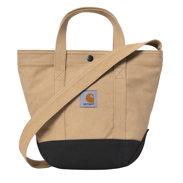 Canvas Small Tote // Dusty H Brown/Black