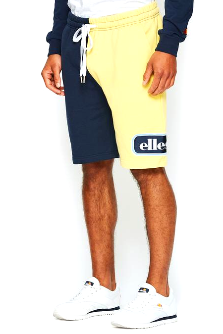 Lemon Chiffon Choppa Oversized Short // Light Yellow Shorts Ellesse
