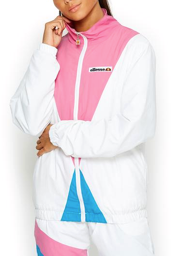 Light Pink Consolata Jacket // White Vestes Ellesse