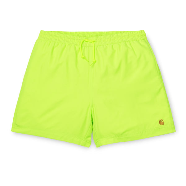 Light Goldenrod Chase Swim Trunk // Lime/Gold Shorts Carhartt WIP