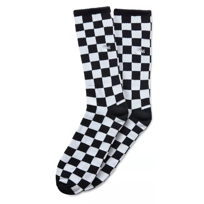 Checkerboard Crew Sock // Black/White