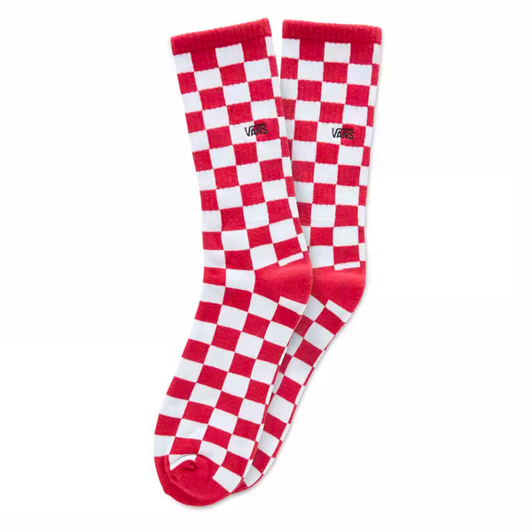 Firebrick Checkerboard Crew Socks II // Red/White Check Chaussettes Vans
