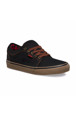 Black Chukka Low // Buffalo Plaid // Black/Gum Sneakers Vans