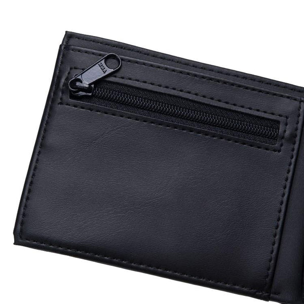 Coated Billfold Wallet // Black/White