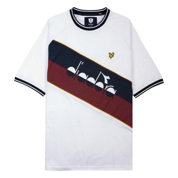 Colorblock T-Shirt // Diadora x Lyle & Scott // White