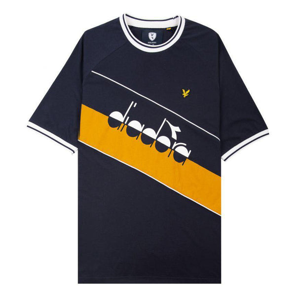 Colorblock T-Shirt // Diadora x Lyle & Scott // Dark Navy
