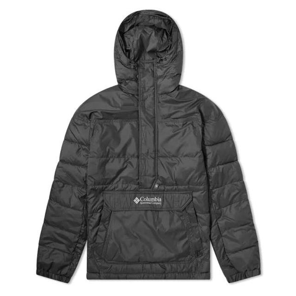 Dark Slate Gray Columbia Lodge Pullover Jacket // Black Vestes Columbia